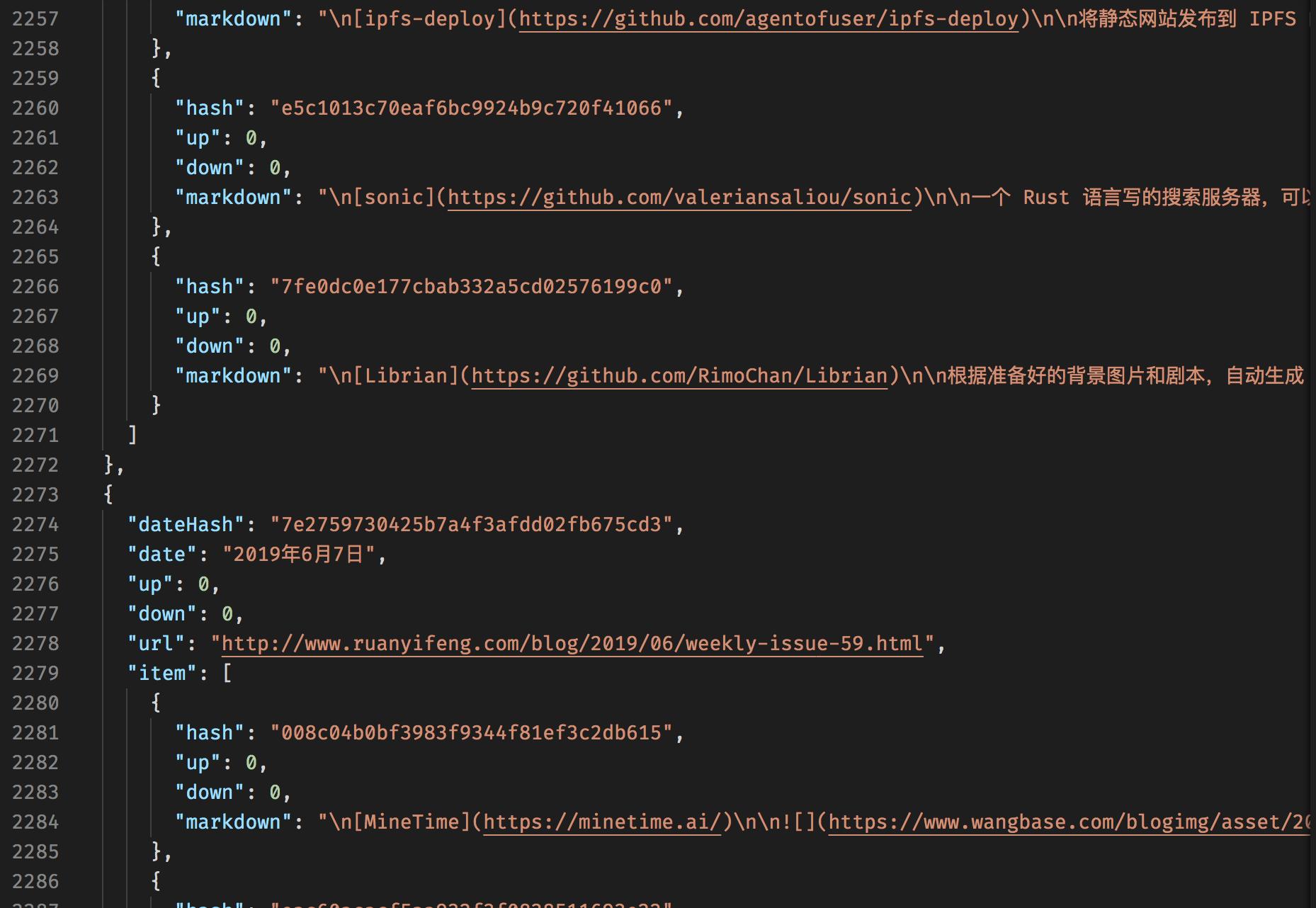 Node.js Cheerio 爬取阮一峰「科技爱好者周刊」推荐的工具